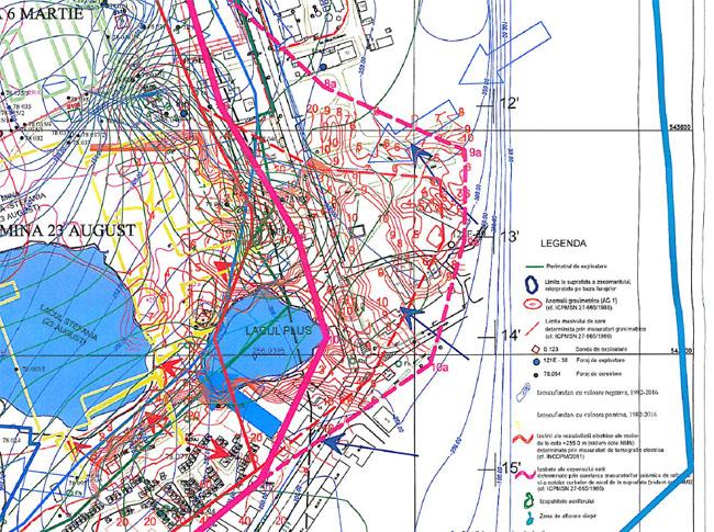 Noua hartă cu extindere a zonei de risc A (linia punctată roz) - septembrie 2017