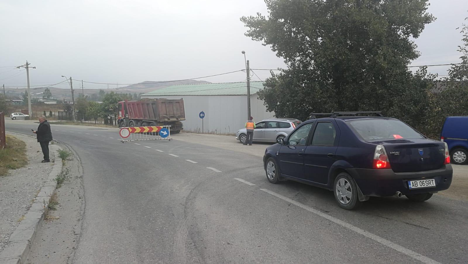 Atenție șoferi! Drumul principal de intrare/ieșire din orașul Ocna Mureș deviat din cauza lucrărilor la Halta Unirea!